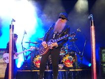 ZZ Top. Is a popular well recognized rock Stock Photography