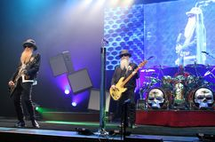 ZZ Top performs in concert stock image