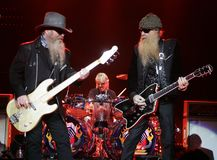 ZZ Top Performs in Concert stock photo