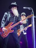 ZZ TOP performs on stage at Sportarena Stock Image
