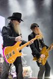 ZZ TOP performs on stage at Sportarena Stock Photos