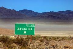Zzyzx è l'ultima parola nel dizionario Immagine Stock