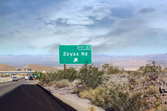Zzyzx images stock