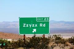 Zzyzx jest ostatnim słowem w słowniku Zdjęcia Royalty Free