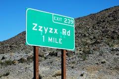Zzyzx jest ostatnim słowem w słowniku Fotografia Royalty Free