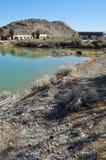 Zzyzx, ruinas abandonadas del balneario, desierto de Mojave fotos de archivo libres de regalías