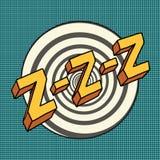 Zzz sound sleep and zumm Stock Photo