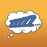 ZZZZ - Wording Sound Effect. For comic speech bubble Stock Images