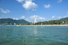 ิฺPatong Beach Phuket Thailand. Patong beach is located Phuket Thailand . White sand is good for your touch Stock Photo