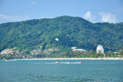 ิฺPatong Beach Phuket Thailand. Patong beach is located Phuket Thailand . White sand is good for your touch Royalty Free Stock Photo