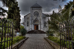 Église catholique de photo à Yalta Photographie stock libre de droits