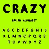 Crazy. Brush painted alphabet. royalty free illustration