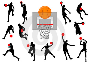 Silhouettes basketball