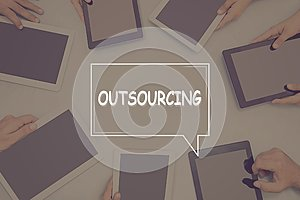 OUTSOURCING CONCEPT Business Concept.