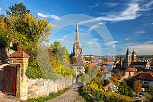 Esslingen am Neckar, Germany, scenic view of the medieval town center