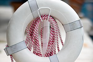Lifesaver float and rope