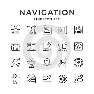 Set line icons of navigation