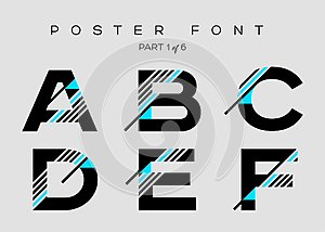 Vector Techno Font with Digital Glitch Text Effect.