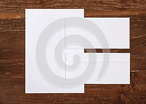 Letterhead and envelop for corporate identity template