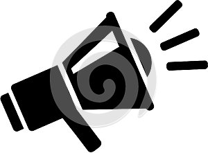 Megaphone message icon