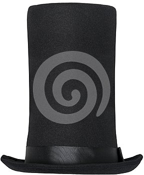 Abraham Lincoln Top Hat Isolated