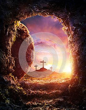 Crucifixion And Resurrection Of Jesus Christ - Empty Tomb