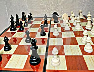 Chess is a table logic game with special figures on a 64-cell board for two rivals, combining elements of art in terms of chess c