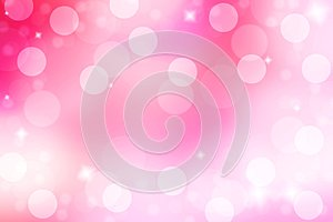 Abstract and blur pink background. Pink background with bokeh an