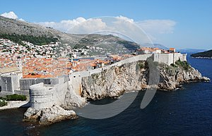 View of Dubrovnik city