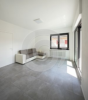 Modern living-room in new apartament with furniture