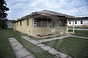 Destructed House after Hurricane Katrina