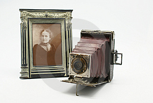 Vintage or Antique Camera and Photograph