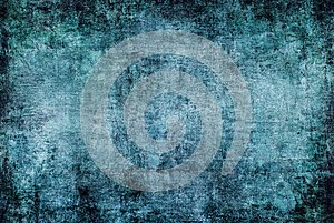 Dark Abstract Painting Blue Green Grunge Rusty Distorted Decay Old Texture for Autumn Background Wallpaper