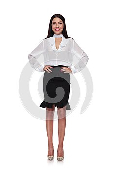 Beautiful and confident businesswoman standing