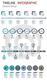 Vector abstract element infographics set timeline. Design for bu