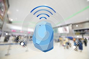 Beacon device home and office radar. Use for all situations. wit