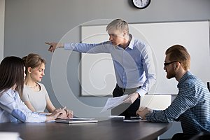 Mad male ceo ask female worker leave company meeting
