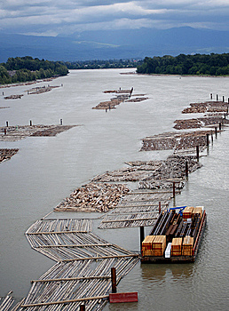 Logging Operation on Water