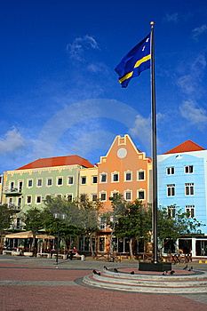 Willemstad's colorful riverfront plaza.