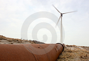 Wind Turbine and pipeline
