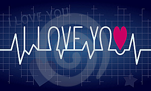 Love Heartbeat Background