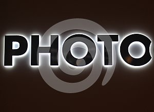 Photo Sign Lighted
