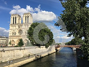 Seine and Notre Dame Cathedral, Paris