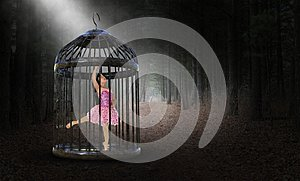 Surreal Captive, Trapped, Girl, Ballet Dancer