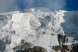 Pamir mountains cold snow ice glacier wall