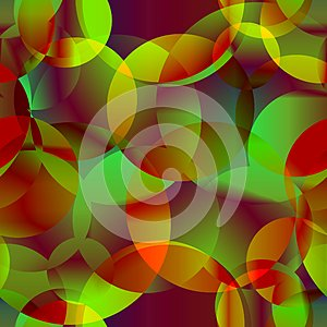 Vector abstract seamless background from space yellow and green