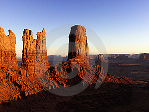 Tall Rock Formations in Monument Valley National P