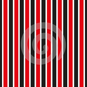 Seamless stripe pattern. Red and black striped background.