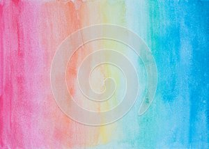 Abstract watercolor background in rainbow colors