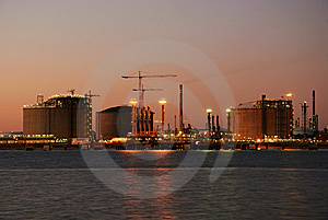 Big refinery - Oil and gas factory.